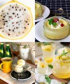 Verrines de lemond curd et mousse de yaourt parfum orange